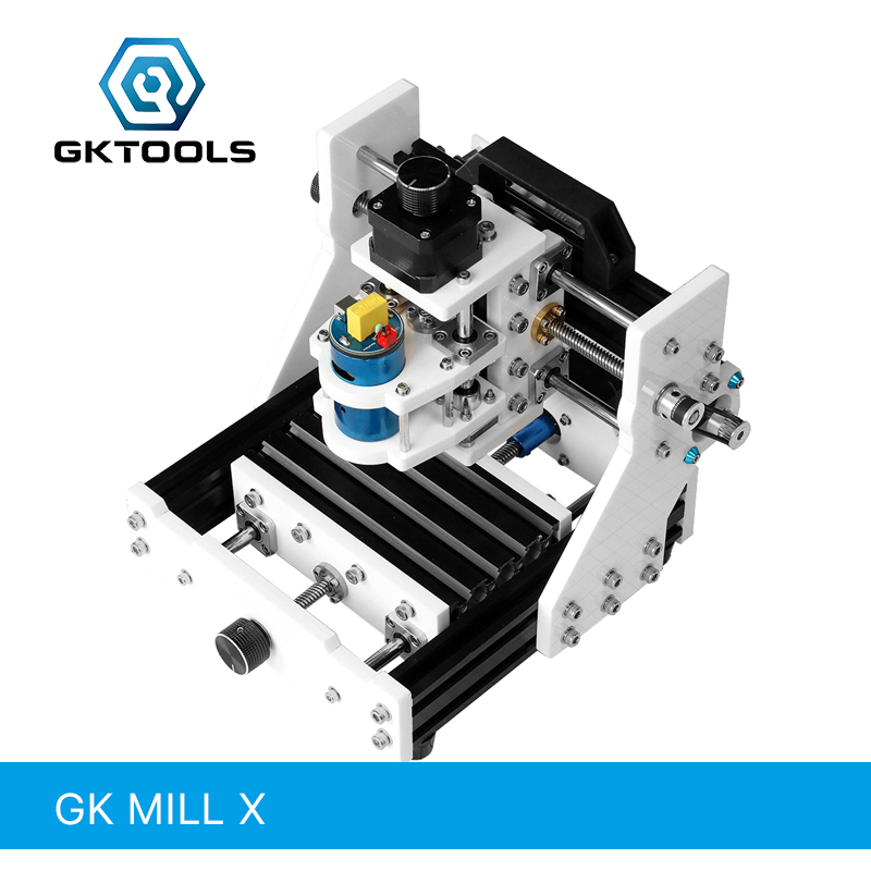 GKTOOLS GK MILL X 13cmx9cm DIY Desktop CNC Engraving Machine CNC Mini Machine Relief PCB Two Color Plates Can Carved Offline