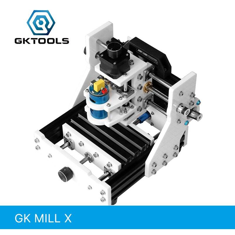 GKTOOLS GK moulin X 13 cm x 9 cm bricolage bureau CNC Machine de gravure CNC Mini Machine de Relief PCB deux plaques de couleur peuvent sculpté hors ligne