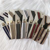Children Striped Design Fashion Suspenders Baby Boys Suspenders Clip-on Y-Back Braces Elastic Kids Suspenders Gift