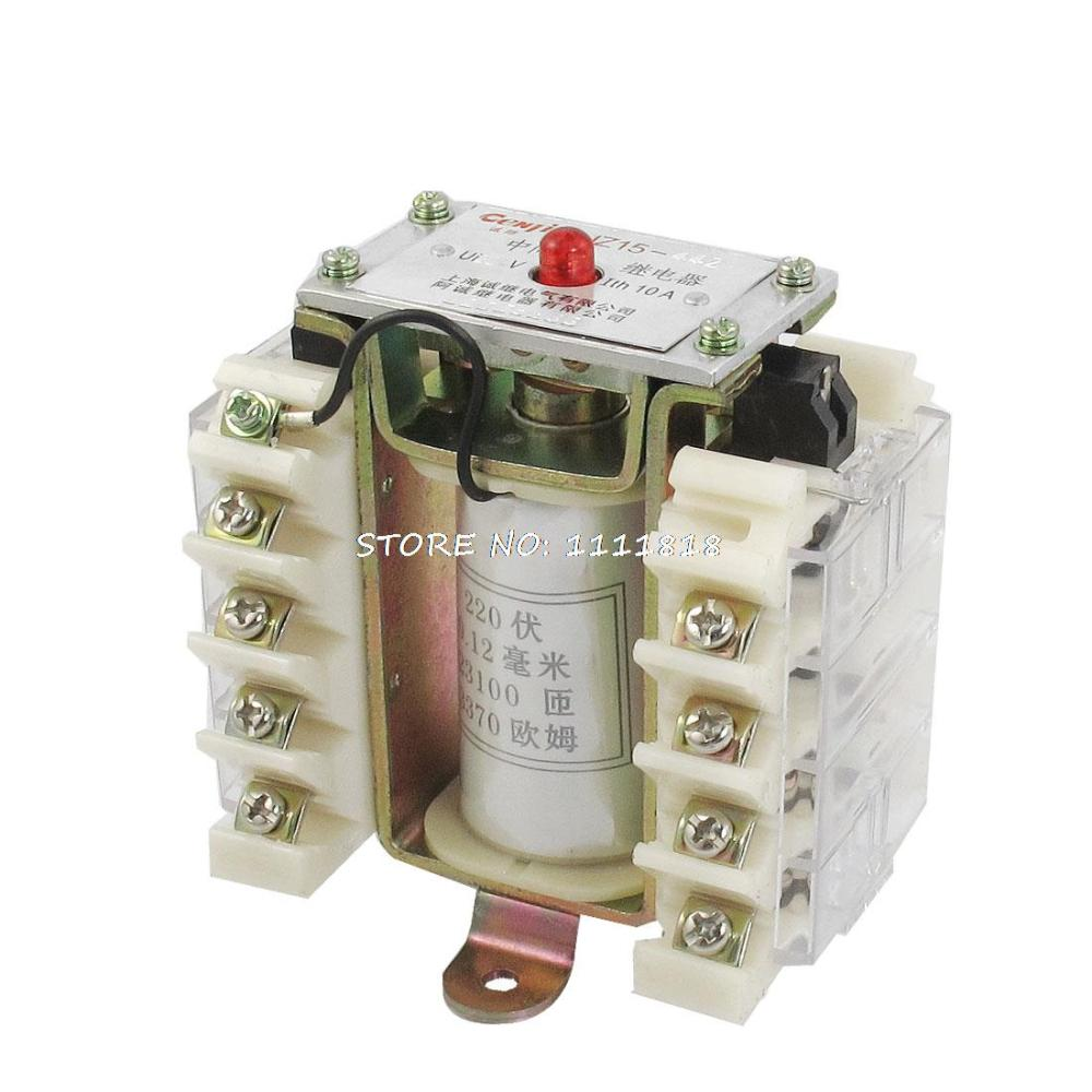 цена на JZ15-44Z AC 220V Coil 10A 220V Contactor Auxiliary Relay 8PST 4NO 4NC