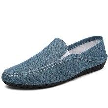hot deal buy sneakers men 2019 new men casual shoes denim canvas shoes british slip on men shoes casual driving shoes zapatos hombre