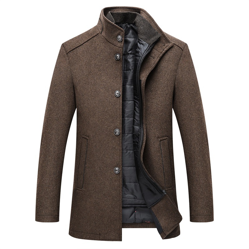 Winter Warm Wool Coat Men Thick Overcoats Topcoat Mens Single Breasted Coats And Jackets With Adjustable Vest Men's Coat 14