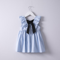 Hurave 2018 Summer Baby Girls Solid Dress Clothes Children Sleeveless Kids Crew Neck Cotton Causal Camis