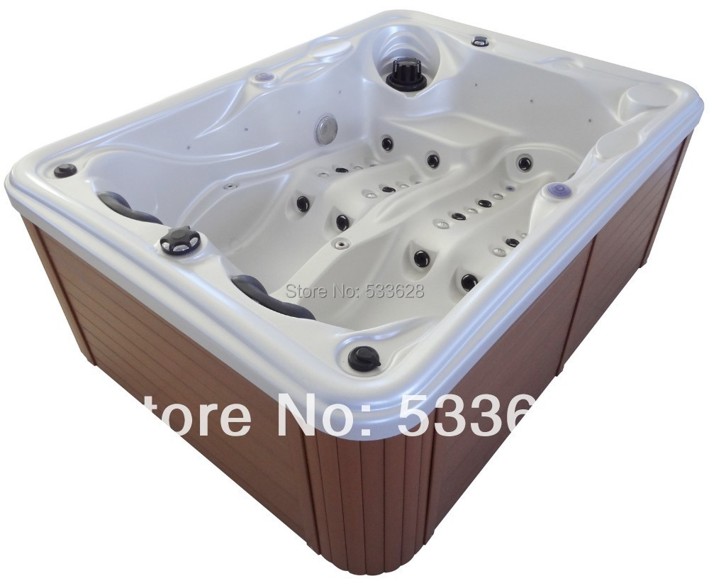 Two person hot tub reviews qca spas 4person rectangular for Jacuzzi exterior 2 personas