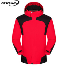Men Ski Clothing 2-1 Waterproof Fleece Warm Windproof waterproof Hunting Hiking travel bicycle  Climbing Camping Jacket