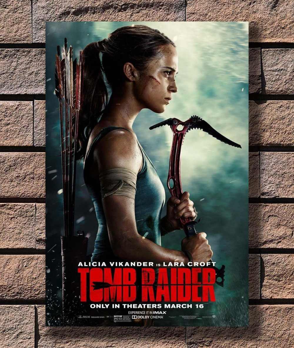 B 517 Tomb Raider Movie Poster 2018 New Film Alicia Vikander 02 Poster Art L W Canvas Print Decoration 12x18 24x36