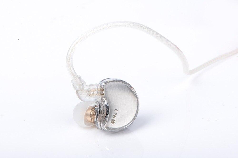 TFZ No 3 HiFi In Ear Earphone Double Dynamic Driver with2Pin 3 5mm Interface Earphone Earbuds