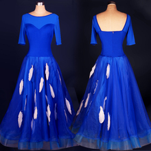 Women Adult modern dance costume one-piece dress skirt expansion skirt dress skirts women ballroom tango waltz dance costume