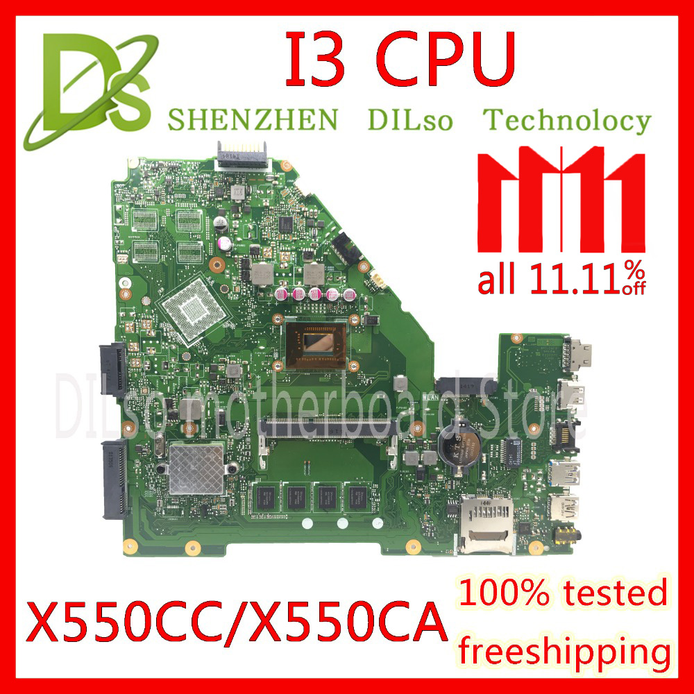 цена KEFU X550CC For ASUS X550 X550C X550CA X550CL Laptop motherboard X550CC mainboard I3 CPU GM 100% WORK Test original motherboard