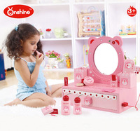 ONSHINE Simulation dressing table set toys Wooden play house Classic toy Girl gift High quality