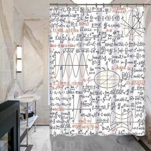 Symboles Geometriques Modele De Rideau Douche Bain Sur Mesure Polyester Impermeable