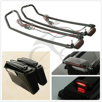 Motorcycle Saddlebag Lid Rack Top Rail Guard For Harley Touring Road king Electra Glide Street Glide ultra 1994-2013 motorcycle driver passenger seat for harley touring electra road king street glide road glide ultra limited flhr 2009 2020