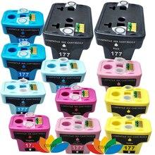 12 paket kompatibel hp 177 hp177 drucker tintenpatrone für hp photosmart c4283 c4483 c4583 c5283 d5363