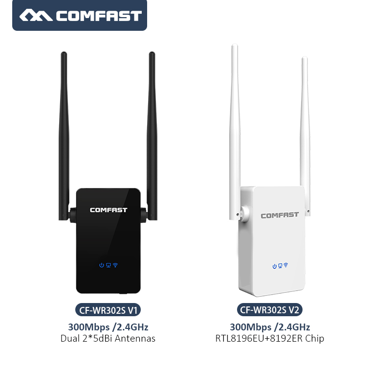 Comfast 300Mbps WIFI Repeater Access Point Wireless router Wi-Fi Extender Dual 5dBi antennas CF-WR302S Signal Booster Repetidor
