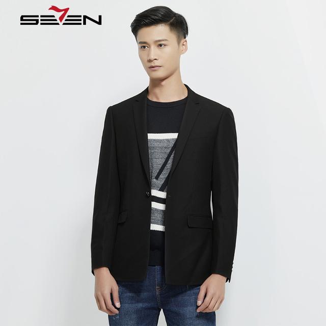 Seven7 Stylish Men Casual Suits Jacket Slim Fit Men Autumn Winter Business Formal Male Masculin Blazer Removable Hem 113C18110