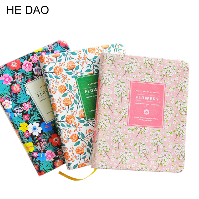 New Arrival Cute Pu Leather Floral Flower Schedule Book Diary Weekly Planner Notebook School Office Supplies Kawaii Stationery sosw fashion anime theme death note cosplay notebook new school large writing journal 20 5cm 14 5cm