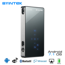 BYINTEK UFO P8I Android 7.1 OS Pico Pocket HD Portable Micro lAsEr WIFI Bluetooth Mini LED Projektor DLP dengan Bateri HDMI USB