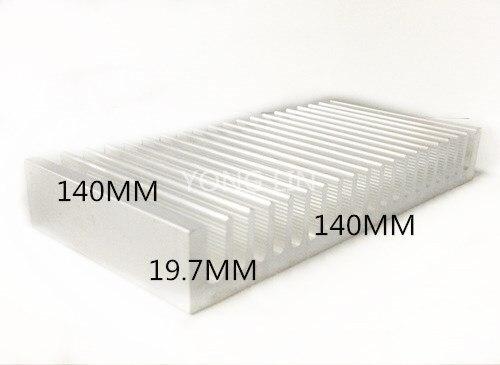 2PCS LED Heatsink 140*19.7-140mm/ Heat Sink/Aluminum/Computer Case Heatsink/
