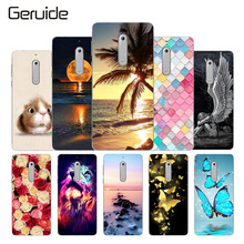 hot deal buy geruide painting for nokia 5 case cover for nokia silicone cover soft tpu coque for nokia 5 cover 5.2 inches mobile phone bag