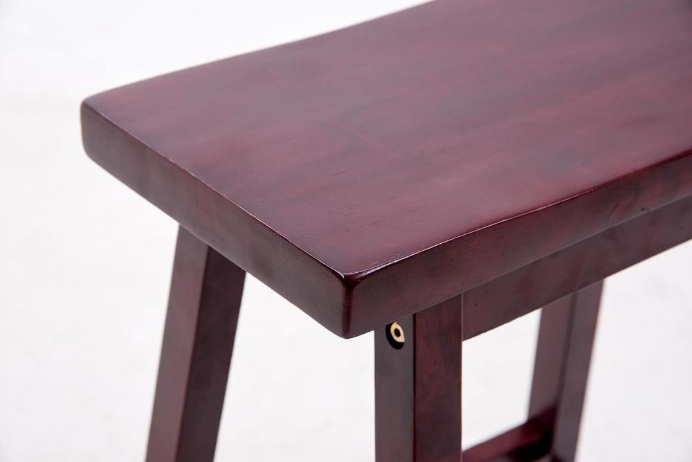 Solido legno duro bar sedia sgabello sedile a sella coperta casa