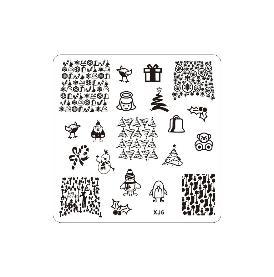 Nail Art Stamp Stamping Image Plate Manicure Stencil Christmas tree ...