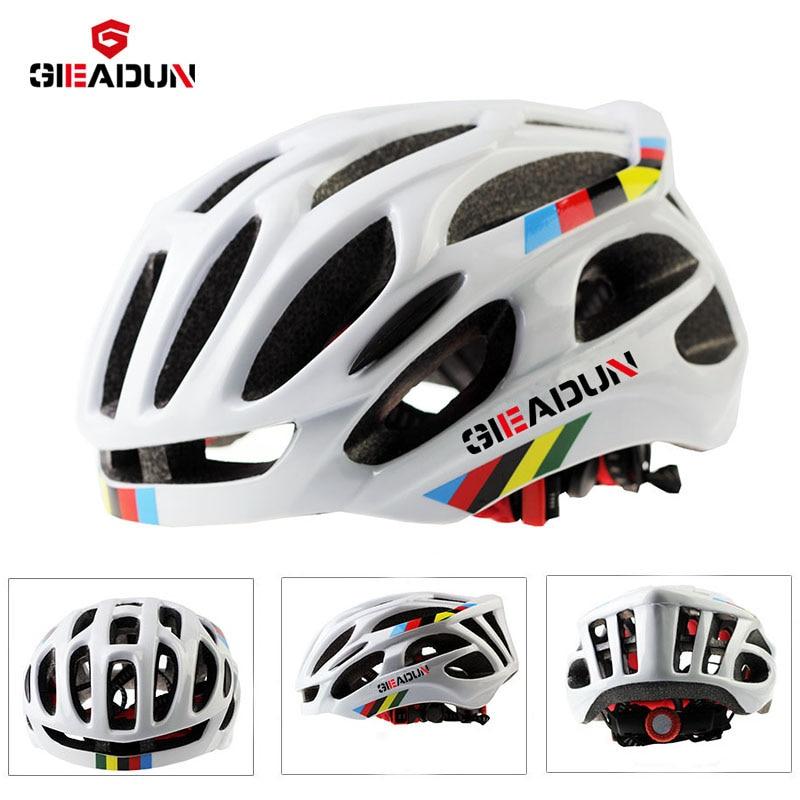 Safy helm disesuaikan, perlindungan helm EPS bersepeda MTB sepeda gunung helm jalan Ultralight 55-58 cm