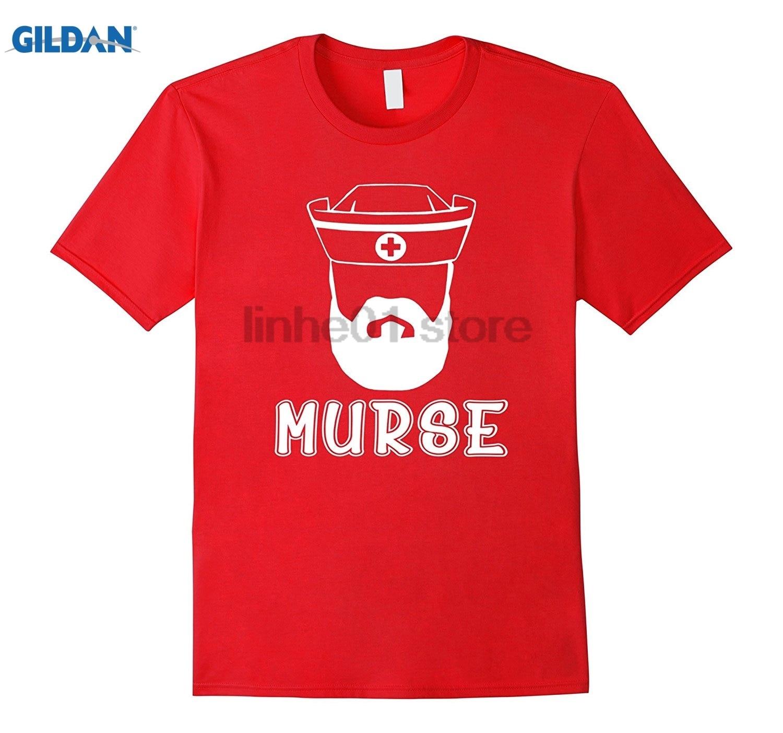 GILDAN Funny murse man t-shirt, gift for nurse Dress female T-shirt