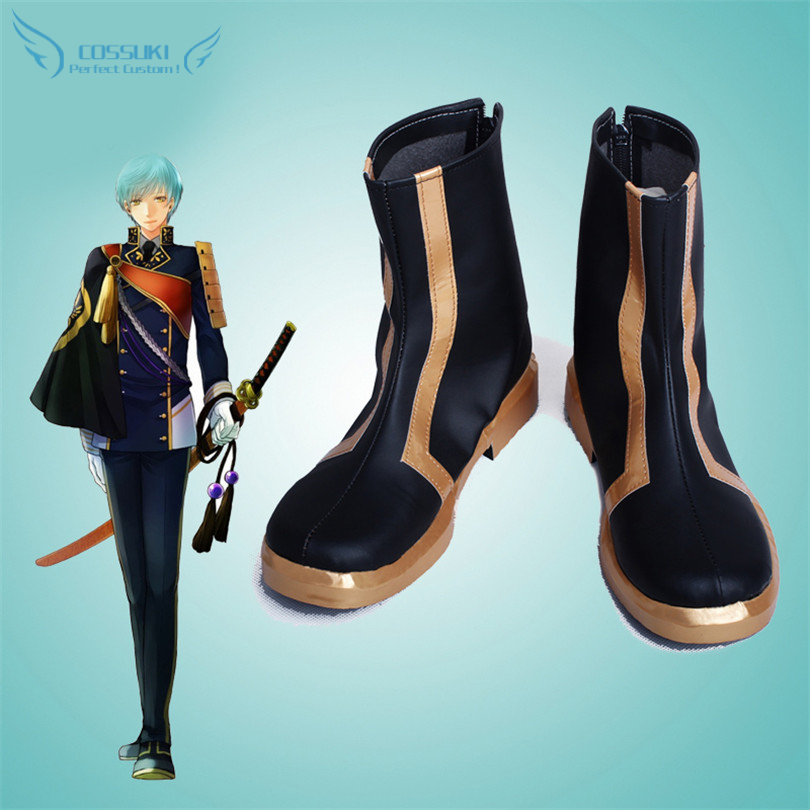 The Sword Dance Touken Ranbu Online Ichigo Hitofuri Cosplay Shoes Boots Professional Handmade Perfect Custom for