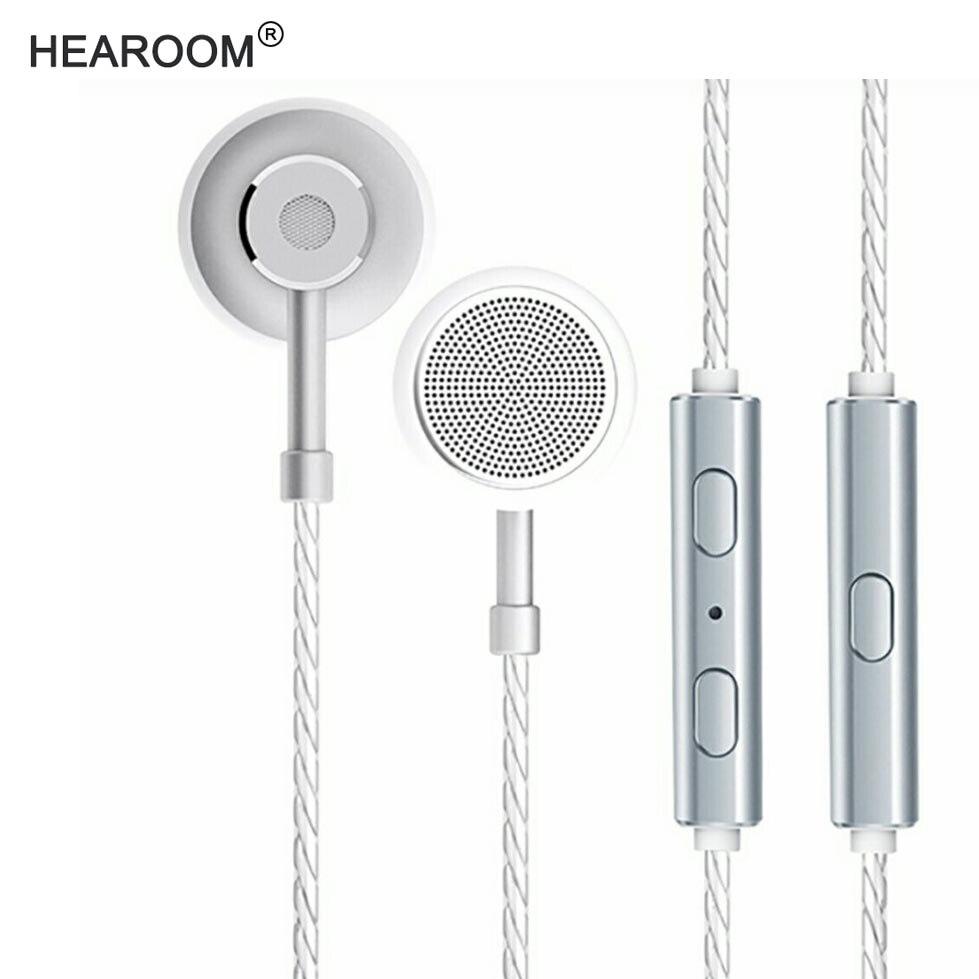 HEADROOM MS16 Custom Earphone with Mic Sports Running Music HIFI Headset Earplugs Stereo Bass Headphone fo Samsung xiaomi