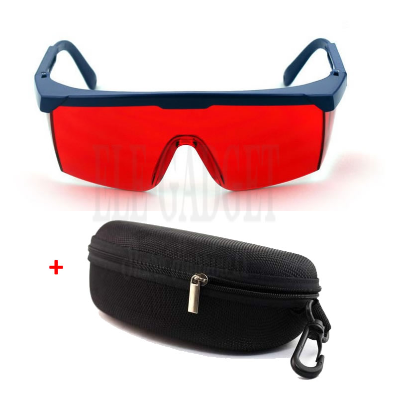 New Laser Eye Protection Safety Goggles Red Lens With Portable Case Preventing Green Laser 200nm-540nm IPL Safety Glasses нaбoр плacтикoвых шaров snowmen 6шт d 7см в пакете зеленый ек0029