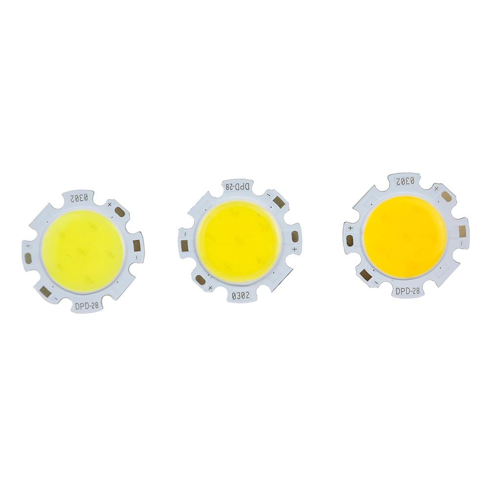 10-100pcs LED COB Chip 28mm Square Round Lighting Source 3W 5W 7W 10W 12W For Spotlight Downlight Tube Light Ceiling Lamp 300ma