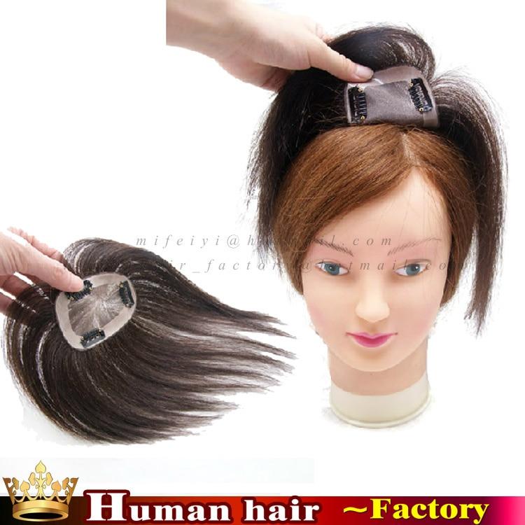 100 Remy Human Hair Toupee Monofilament Base Hairpiece