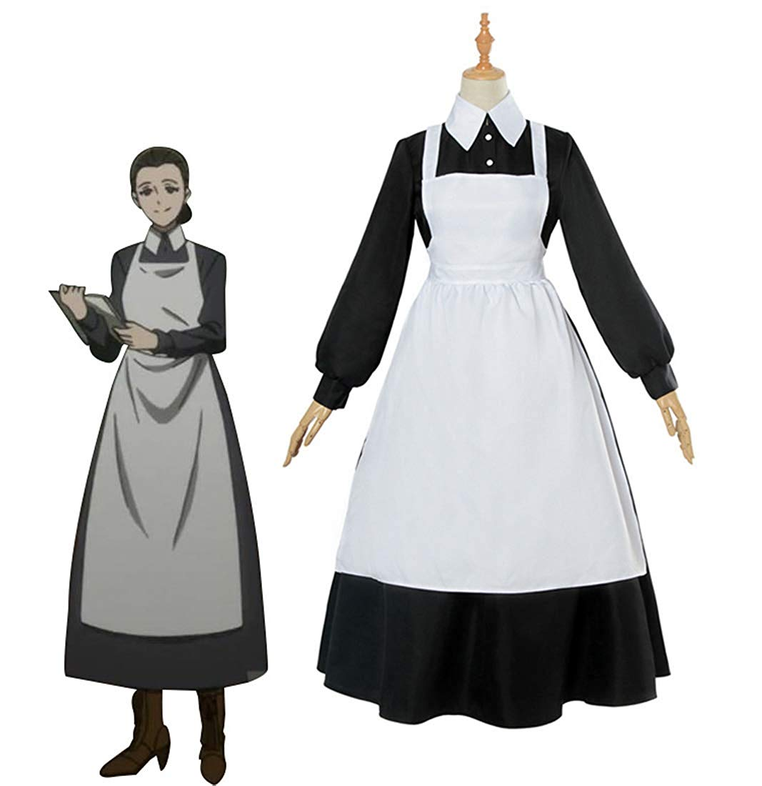The Promised Neverland Isabella Krone Dress Cosplay Costume Mama Sister Isabella Maid Dress Custom Made Any Size-in Anime Costumes from Novelty & Special Use    1
