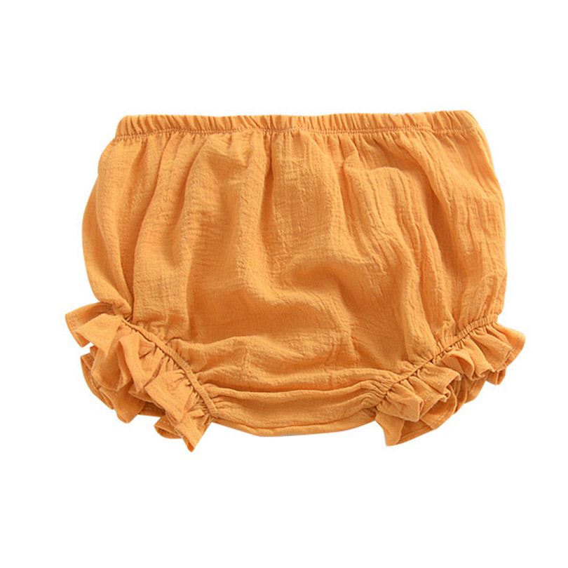 0-3Y Kawaii Newborn Baby Bloomers Shorts PP Pants Cotton Linen Triangle Solid Baby Girls Shorts Summer Trousers Casual