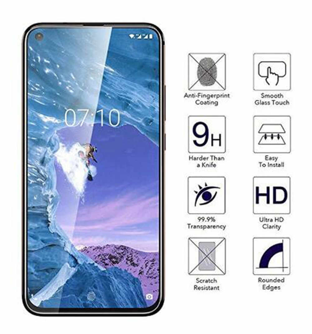 Temperli Cam Nokia X71 7.1 6.1 5.1 3.1 2.1 7 artı 8.1 8 Sirocco 6 Koruyucu ekran koruyucu film Nokia 2 3 5 6 2018