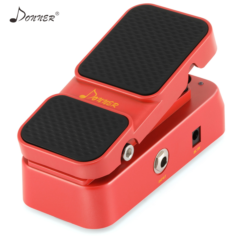 Donner 2 In 1 Acitve Volume Vintage Wah Vowel Mini Combines Effect Guitar Pedal Analog Circuit Pedals Guita Parts Accessories