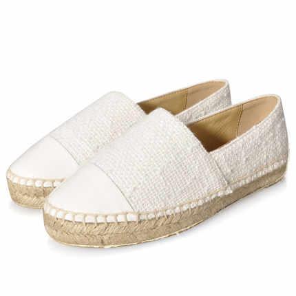 Yeni moda kadın ayakkabısı pamuklu kumaş yuvarlak ayak kadın loafer'lar marka kadın Espadrilles sürüngen konfor ayakkabı boyutu 34-42