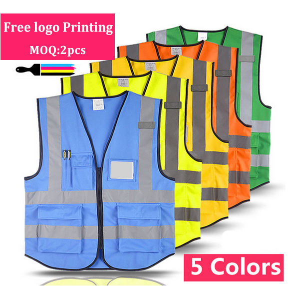 SPARDWEAR Hi vis vest Safety reflective vest free logo printing work yellow vest free shipping jiade two tone hi vis safety vest reflective