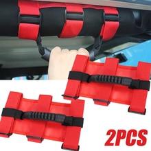 2pcs Roll Bar Mount Side Grab Handle Handles Black Red Kit For 4WD Off Road Accessories For Jeep Wrangler JK CJ TJ VAN Wholesale