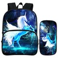 Special Offer Fashion Suit Oxford 12-Inch Prints Mythical Animals Horse Kids Babys School Bags Children Small Backpacks for Boys