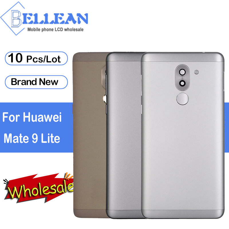 Dinamico Metal Back Cover For <font><b>Huawei</b></font> Mate 9 Lite Battery Cover Housing Rear Glass Part For Honor 6X <font><b>GR5</b></font> <font><b>2017</b></font> Cover 10Pcs image