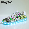 2017 Fashion High Quality Led Shoes For Adult Men Casual Shoes Female Glowing Unisex Lovers Light Shoes HOT SALE black green