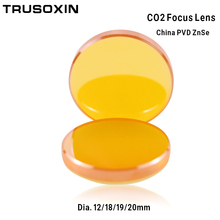 China CO2 ZnSe Focus Lens Dia.12 18 19 20 mm FL38.1 50.8 63.5 101.6 127mm 1.5 - 4 for Laser Engraving Cutting Machine