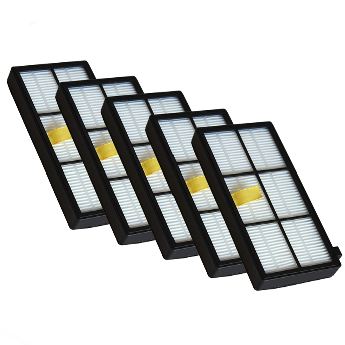 Здесь продается  100pcs Heap filter kit for iRobot Roomba 800 900 Series 870 880 980 Vacuum Cleaner Accessories parts replacement  Бытовая техника