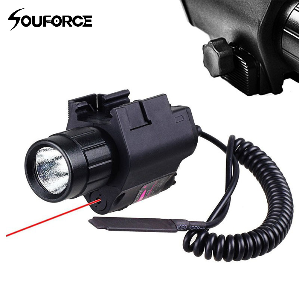Chasse Tactique Laser Sight 650nm Red Dot Laser Vue + 200LM CREE LED lampe de Poche Pour Glock 17 Rifle Pistol Shotgun