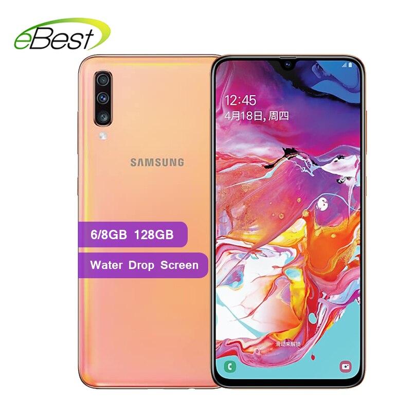 """Samsung Galaxy A70 Smartphone 6.7 """"écran goutte d'eau 6 GB/8 GB 128GB 25W chargeur rapide 32MP caméra avant 4500mAh 4G téléphone portable-in Mobile Téléphones from Téléphones portables et télécommunications on AliExpress - 11.11_Double 11_Singles' Day 1"""