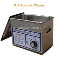 3L Ultrasonic Cleaner Assista/Vidro/Máquina de Limpeza Detal PS-20T Arruela com Cesto Em Aço Inoxidável