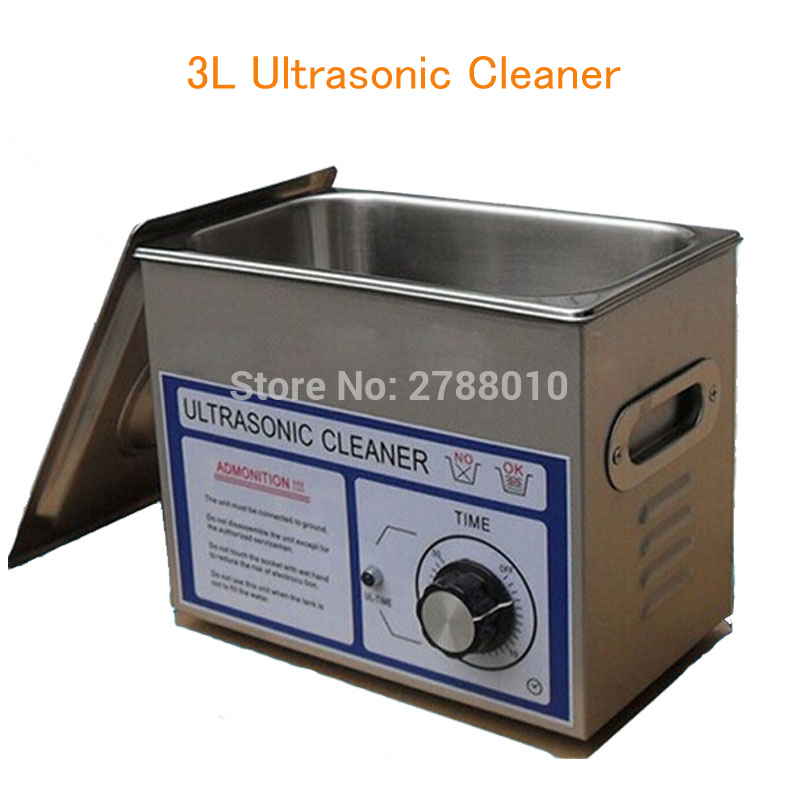 3L Ultrasonic Cleaner Watch/ Glass/ Cleaning Machine Detal Washer with Stainless Steel Basket PS-20T 3l ultrasonic washer for surgical instruments for sweep frequency cleaning machine