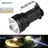 Фонарик светодиодный CREE XM-L2 белый или желтый можете выбрать портативный светильник Кемпинг Приключения Охота светодиодный прожектор