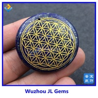 MOQ 1 PC Flower Of Life Pendant Carved Design With Natural Lapis Lazuli Quartz Crystal For